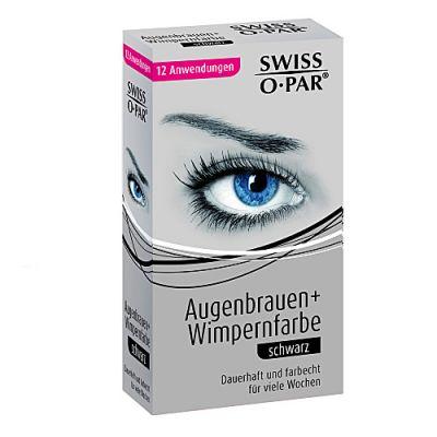 Swiss O-Par Augenbrauen + Wimpernfarbe Schwarz 12 Anwendungen