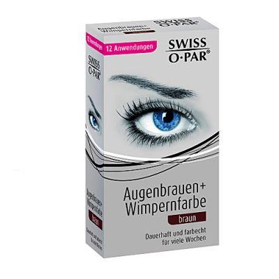 Swiss O-Par Augenbrauen + Wimpernfarbe Braun 12 Anwendungen