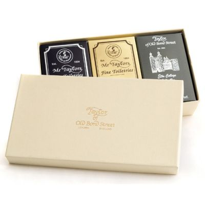 Taylor of Old Bond Street Mixed Bath Soap Gift Box 3x200g