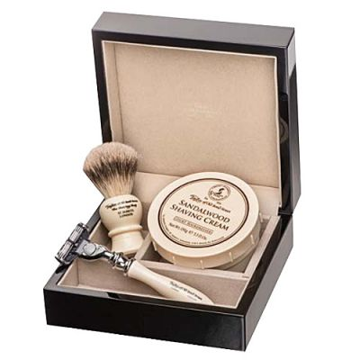 Taylor of Old Bond Street Sandalwood Lacquered Wooden Gift Box Best Badger Razor 1 Stück