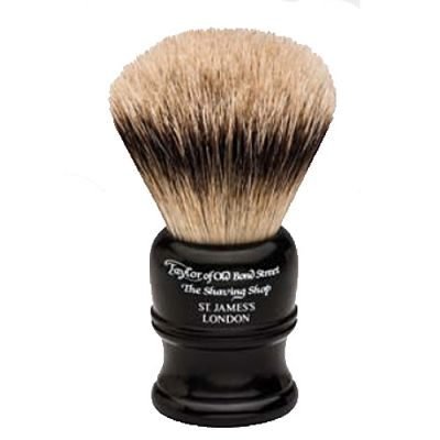 Taylor of Old Bond Street Super Badger Shaving Brush Black 1 Stück