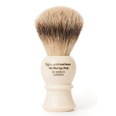 Taylor of Old Bond Street Super Badger Shaving Brush Medium Ivory 1 Stück