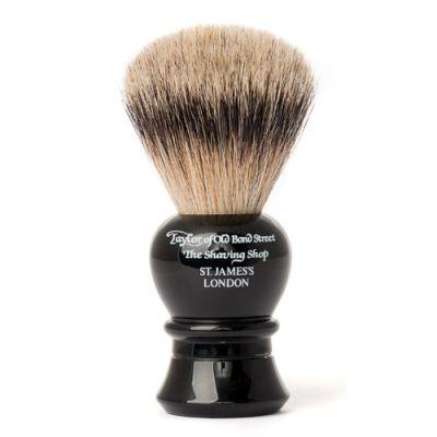 Taylor of Old Bond Street Super Badger Shaving Brush Small/Medium Black 1 Stück
