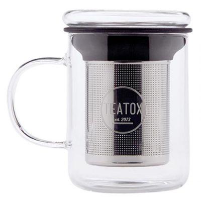 TEATOX Tee-Glas mit Sieb 350ml 1 Stück