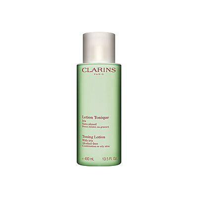 Clarins Lotion Tonique Sans Alcool Iris Peaux Mixtes ou Grasses 400ml