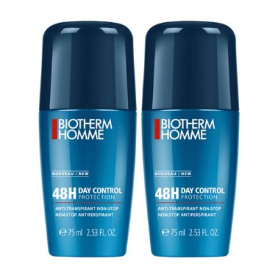 Biotherm Homme Day Control 48H Anti-Transpirant Roll-On Duo 2x75ml - Limitiert