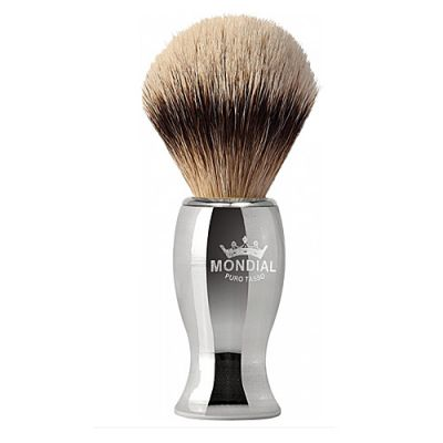 Mondial Exklusive Metal Silvertip Badger 1 Stück