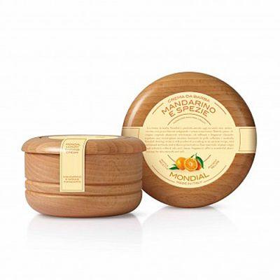 Mondial Shaving Cream Wooden Bowl Mandarino e Spezie 140ml