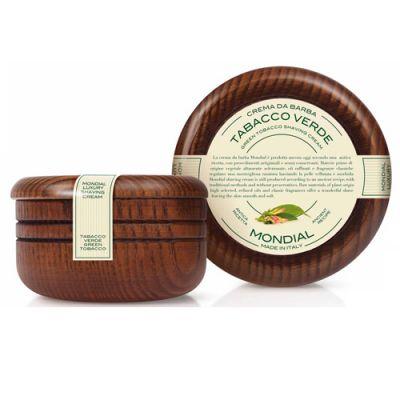 Mondial Shaving Cream Wooden Bowl Tabacco Verde 140ml