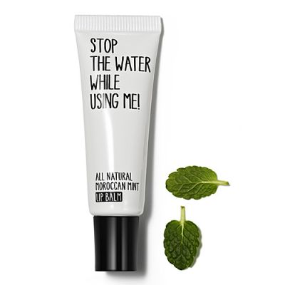 Stop The Water While Using Me All Natural Moroccan Mint Lip Balm 10ml