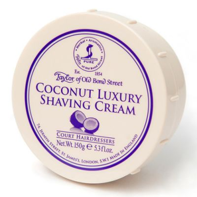 Taylor of Old Bond Street Coconut Luxury Shaving Cream Bowl 150g