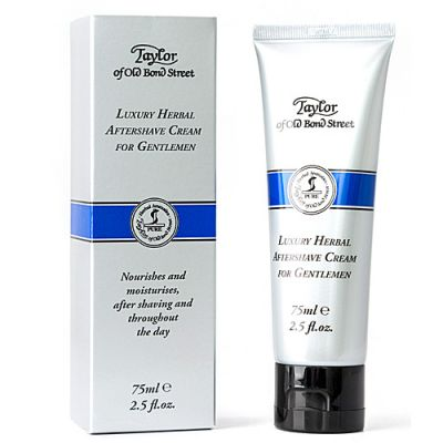 Taylor of Old Bond Street Luxury Herbal Aftershave Cream Tube 75ml