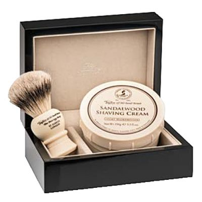 Taylor of Old Bond Street Sandalwood Lacquered Wooden Gift Box Best Badger 1 Stück